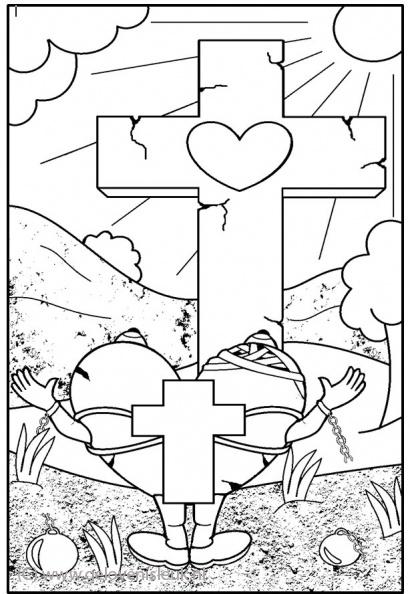 breng het kruis naar het kruis | clipart geloven is leuk