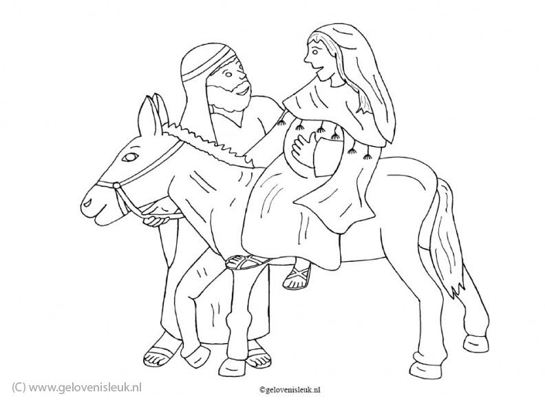 Kleurplaat Kerst Jozef En Maria Idee 235 N Over Kleurpagina