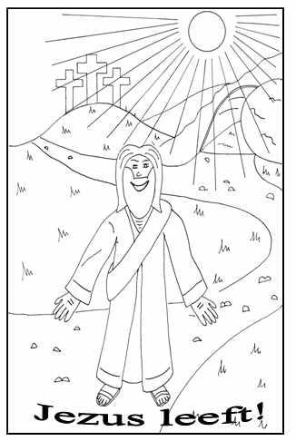 Jezus Leeft Hij Is Opgestaan Clipart Geloven Is Leuk
