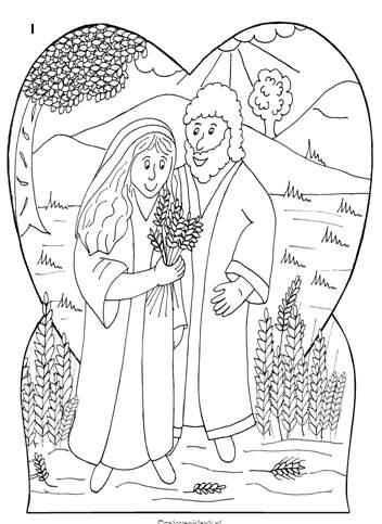 Kleurplaten Trouwen Pdf.Boaz En Ruth Trouwen Clipart Geloven Is Leuk