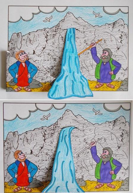 Mozes En Het Water Uit De Rots