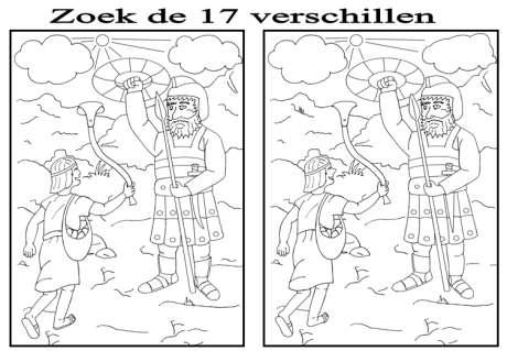 David En Goliath Zoek De Verschillen